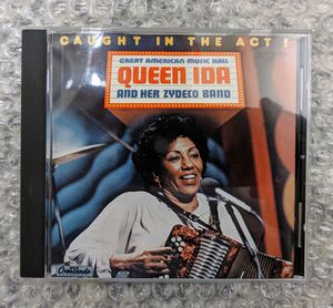 Queen Ida & Her Zydeco Band: Caught In Act 1985 (CD) GNP Crescendo Records MINT for Sale in Huntington Beach, CA