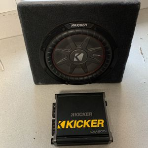 "Kicker 10"" Comp Rt With Box & Kicker Amp CXA300.1 for Sale in San Diego, CA"