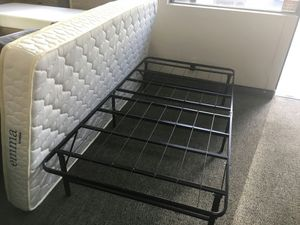 Tempo Collection 14in High Profile Platform Smart Base Bed Frame, Twin Size with 6in Mattress for Sale in Garden Grove, CA