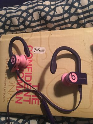 Power beats 3 purple n pink for Sale in Houston, TX