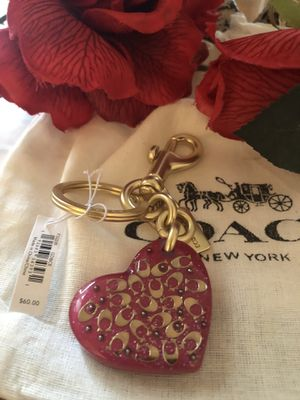 COACH Heart Handbag Charm and/Or Key Fob BRAND NEW for Sale in Manassas, VA