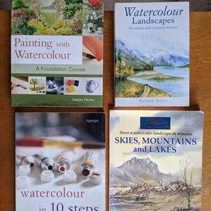 Watercolor Painting Guide Instruction Books for Sale in Stockton, CA