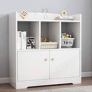 Very Beautiful Simpleness Floor Bookshelf Nordic Style Multifunctional Creative Small Bookshelf (White) for Sale in Oshkosh, WI