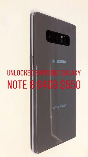 Unlocked Samsung Galaxy note 8 64GB for Sale in Kennewick, WA