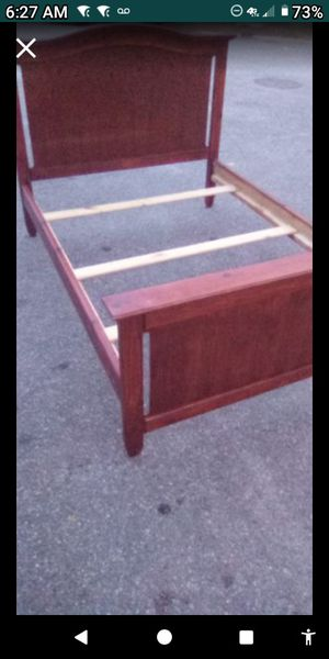 FULL SIZE ALL WOOD BED FRAME for Sale in Norfolk, VA