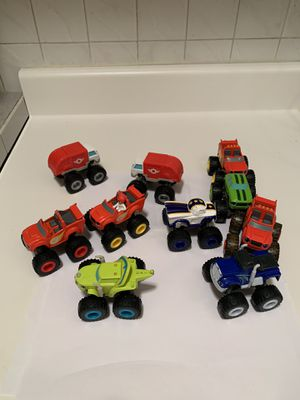 Blaze & The Monster Machines toy trucks for Sale in Harrison, NY