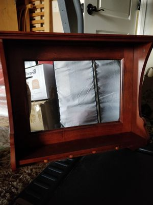 Wooden wall shelf with mirror for Sale in Franklin, TN