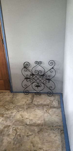Cast Iron Wall Decor/ Candle Holder for Sale in Federal Way, WA