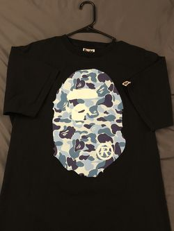Bape Big Ape Head Tee Black/Blue for Sale in Upper Marlboro,  MD