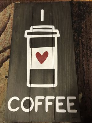 Coffee handmade sign for Sale in Attleboro, MA
