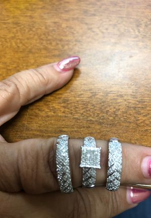 3 piece diamond wedding set woman's size 7 for Sale in Norco, CA
