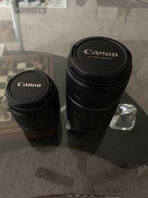 Canon Lens 35-80 & 55-250 for Sale in Ashburn, VA