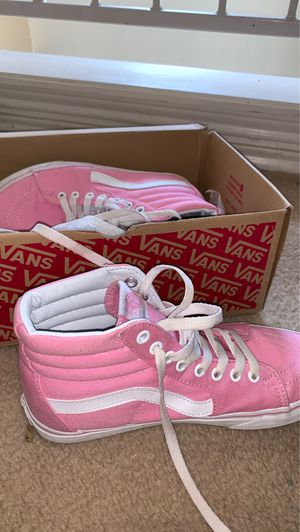 Pink and white vans for Sale in Fort Worth, TX