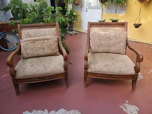 Two beautiful antique arm chairs for Sale in Coral Gables, FL