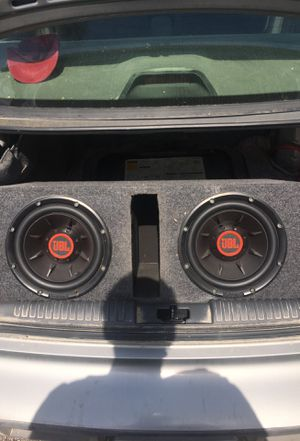 Two 10' JBL Club 1024 subs with box, and amp if you want for Sale in Atchison, KS