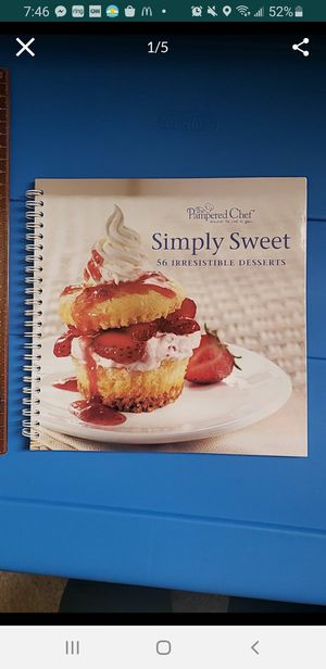 Peoria az Pampered Chef dessert cookbook book please read description for pick up location options for Sale in Peoria, AZ