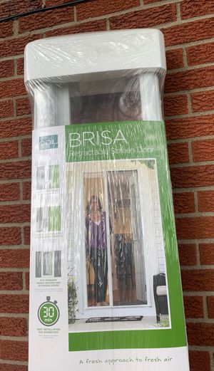 ODL Brisa White Standard Retractable Screen Door for Sale in Houston, PA
