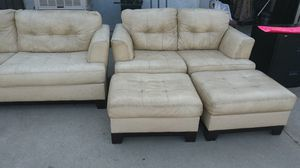 Leather sofa set for Sale in San Bernardino, CA