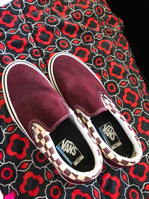 Maroon checkered vans brand new size 9.5 men❗️ for Sale in Columbus, OH