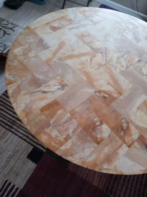 Sale marble kitchen table round for Sale in Fort Wayne, IN