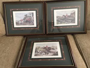 Collector Equestrian Fox Hunt Pictures William J Shayer for Sale in Toluca, IL