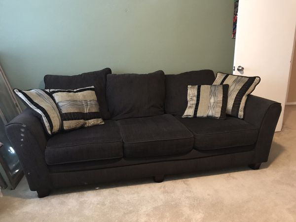 Ashley S Furniture Chocolate Couch Throw Pillows