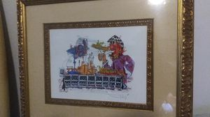Beautiful original artwork number 1 of 25 hand signed in a beautiful frame for Sale in Boynton Beach, FL