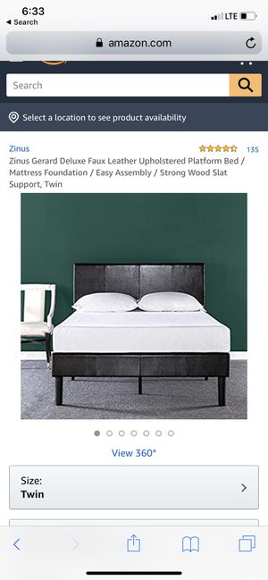 Twin size leather bed frame for Sale in Phoenix, AZ