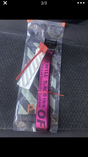 Off white belt for Sale in Los Angeles, CA