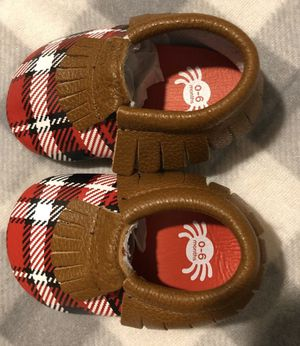 Baby Plaid Moccasin Shoes for Sale in Highland, CA