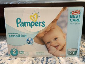 Pampers Swaddlers size-2 120 count for Sale in Everett, WA