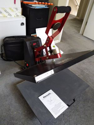Heat press and shirt maker printer cutter with colored paper rolls for Sale in Westminster, CO