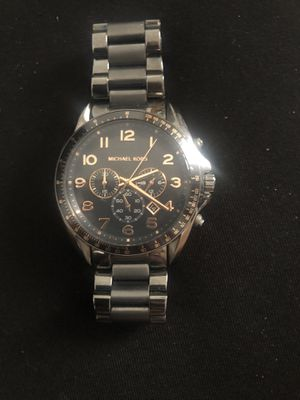 Michael Kors MK8255 Men's Bradshaw Dial Gunmetal Steel Chronograph Watch for Sale in Pueblo West, CO