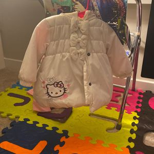 12months Hello Kitty Puffy Coat $25 for Sale in Washington, DC