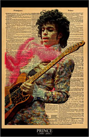Music Artist Prince Rogers Nelson Poster / Print size 11x17 Vintage Dictionary style on a page with the word PRINCE for Sale in Hesperia, CA
