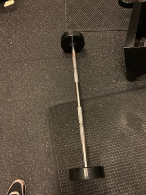 60lbs straight curl bar for Sale in Chicago, IL