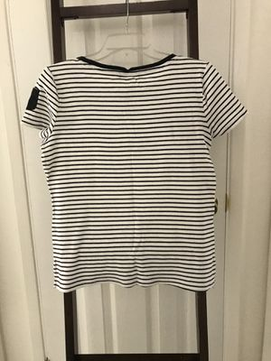 Ralph Lauren women's shirt black and white striped size lrg large for Sale in Phoenix, AZ