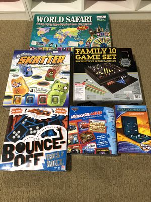 5 Board Games and One New Puzzle for Sale in Redmond, WA
