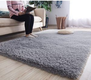 BRAND NEW | Modern Shag Area Rugs Fluffy Living Room Carpet Comfy Bedroom Home Decorate Floor Kids Playing Mat 4 Feet by 5.3 Feet, Grey for Sale in Cockeysville, MD