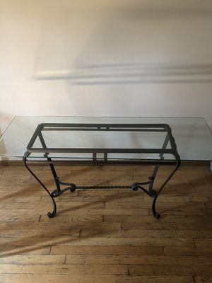 Wrought Iron Glass Top Sofa Table for Sale in Hilliard, OH