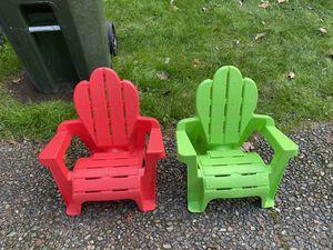 Kids outdoor indoor chairs for Sale in Renton, WA