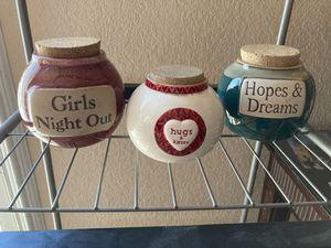 Cute ceramic jars for Sale in San Diego, CA