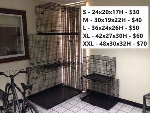 New Premium 2 Door Folding Dog Cage Kennel Crate Training S / M / L / XL / XXL for Sale in Riverside, CA