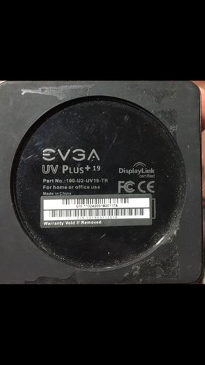 EVGA UV Plus+ 19 USB Display Adapter, 100-U2-UV19-TR for Sale in Portland, OR