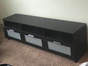 TV Stand, with 3 Drawer Glass Storage. for Sale in Atlanta, GA