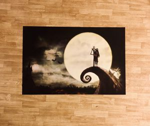 """Nightmare before Christmas Poster - Jack & Sally - 36"""" X 24"""" - Mint Condition for Sale in Seattle, WA"""