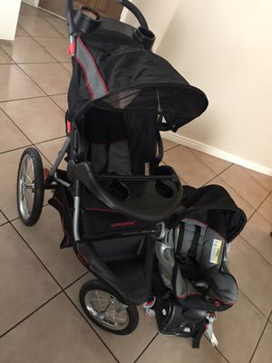 Babytrend expedition jogging stroller with car seat for Sale in Phoenix, AZ