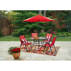 Patio Dining Furniture Red Outdoor Porch Deck Set for Sale in Cadillac, MI