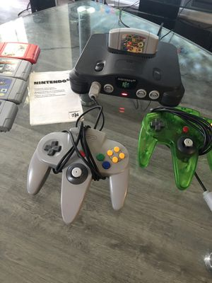 Nintendo 64 N64 Controllers and Super Mario 64 for Sale in Davie, FL
