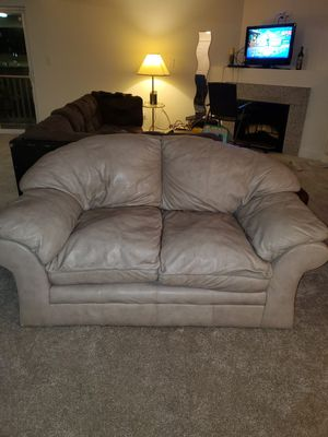 Genuine Leather Loveseat Manufactured by Viewpoint Leather Works for Sale in Virginia Beach, VA
